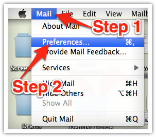 opening Mac Mail preferences