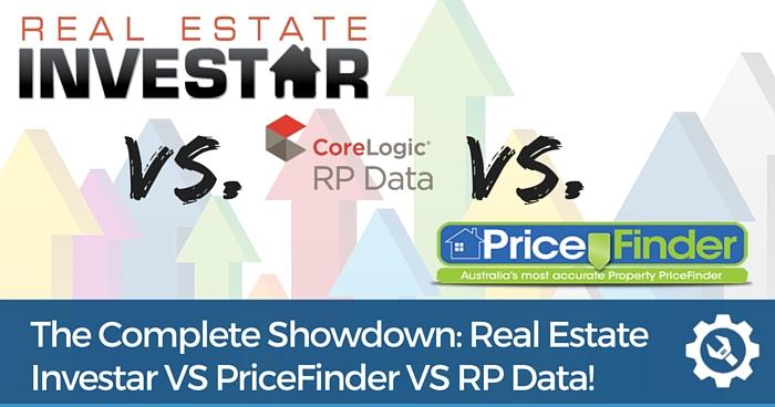 Real Estate Investar VS PriceFinder VS CoreLogic RP Data Comparison