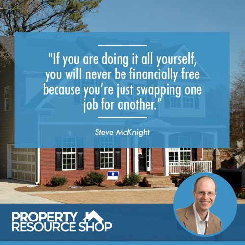 Image of a steve mcknight's quote about doing it all yourself and an image o