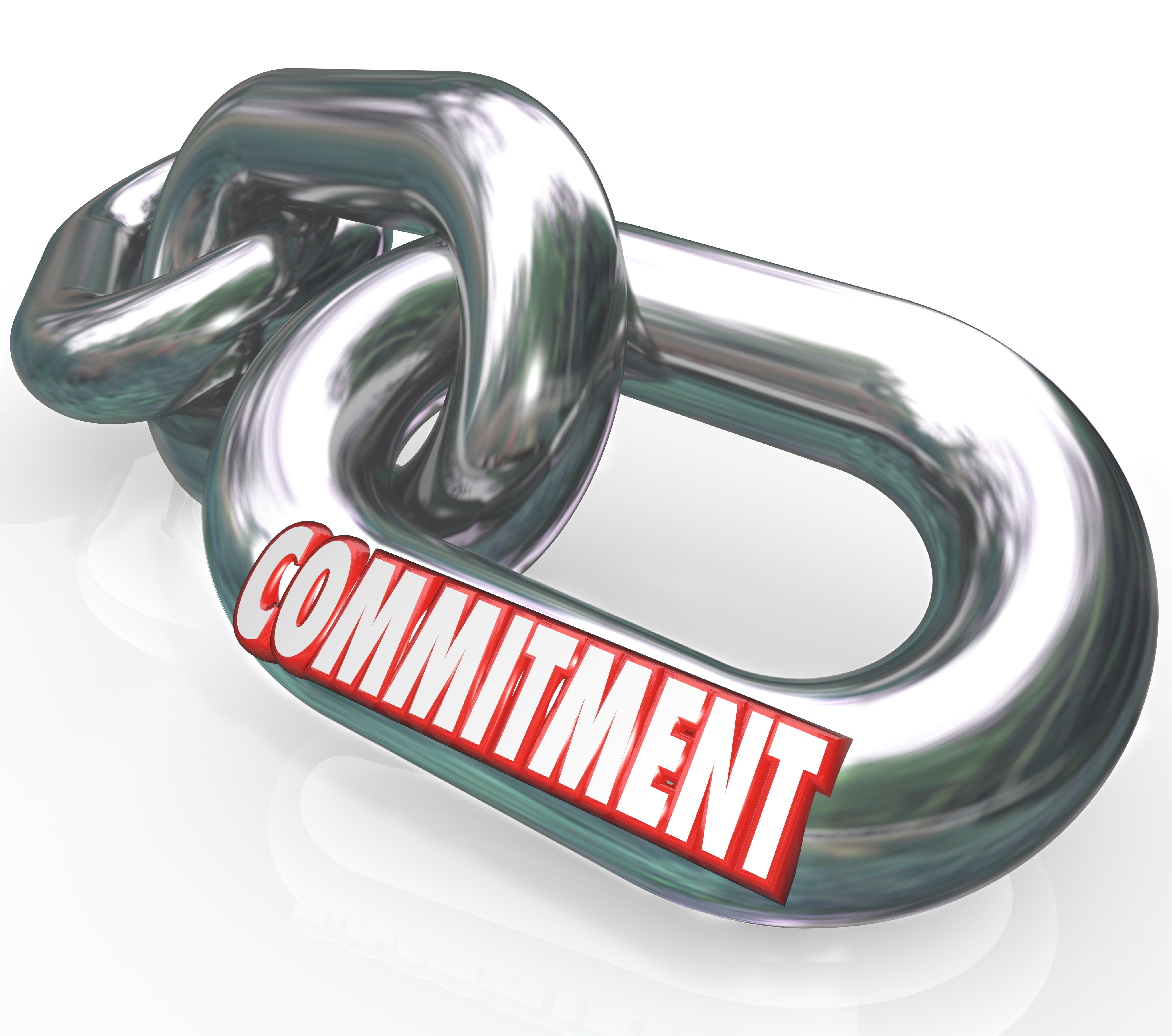Drawing of a chain with Commitment written on it. Represents that One of the most important Property Investing Secret is to be commited
