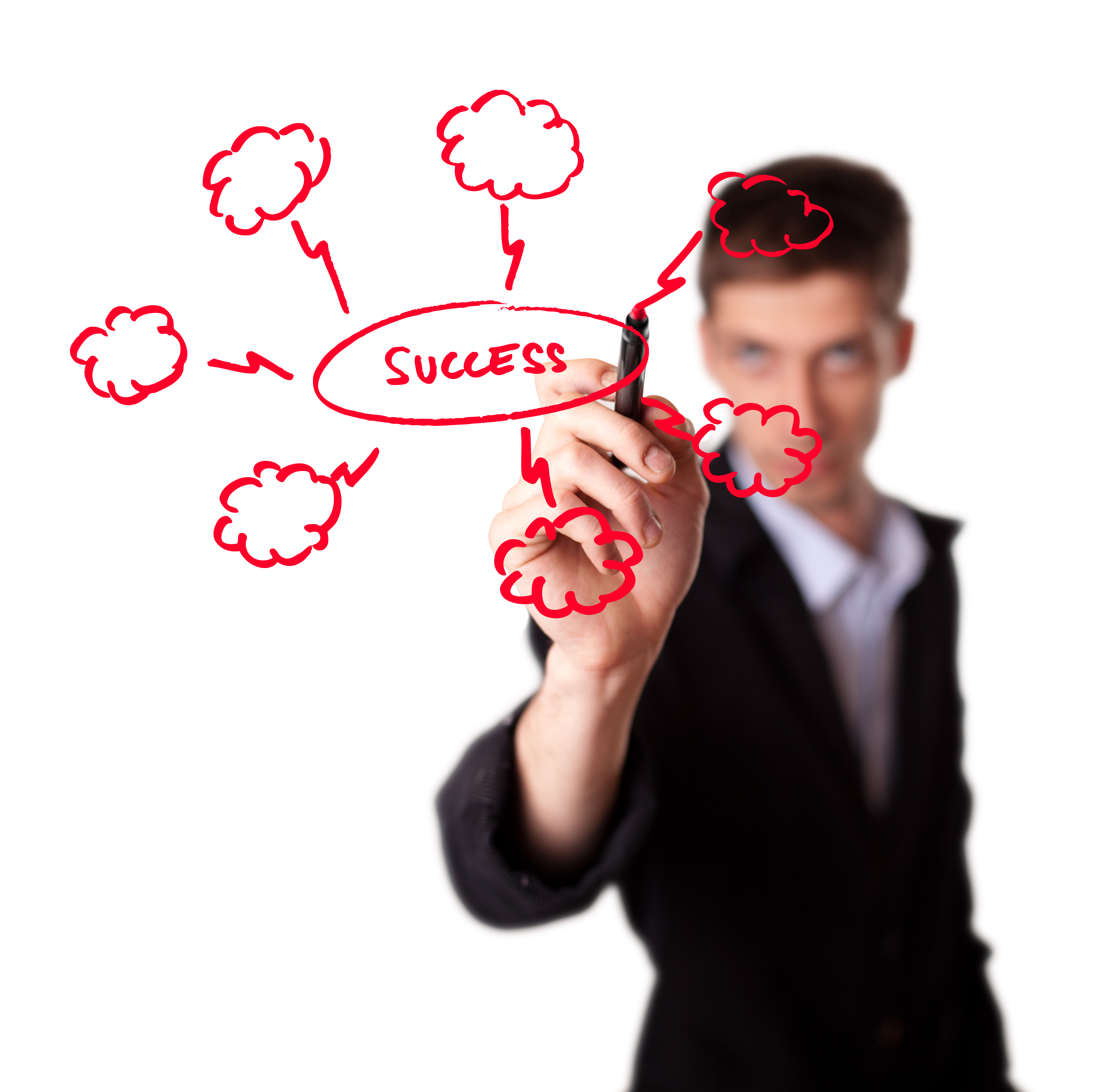 Image of a Man with a strategy plan to be successful - represents that Success is just another word for being able to Get what you want in life
