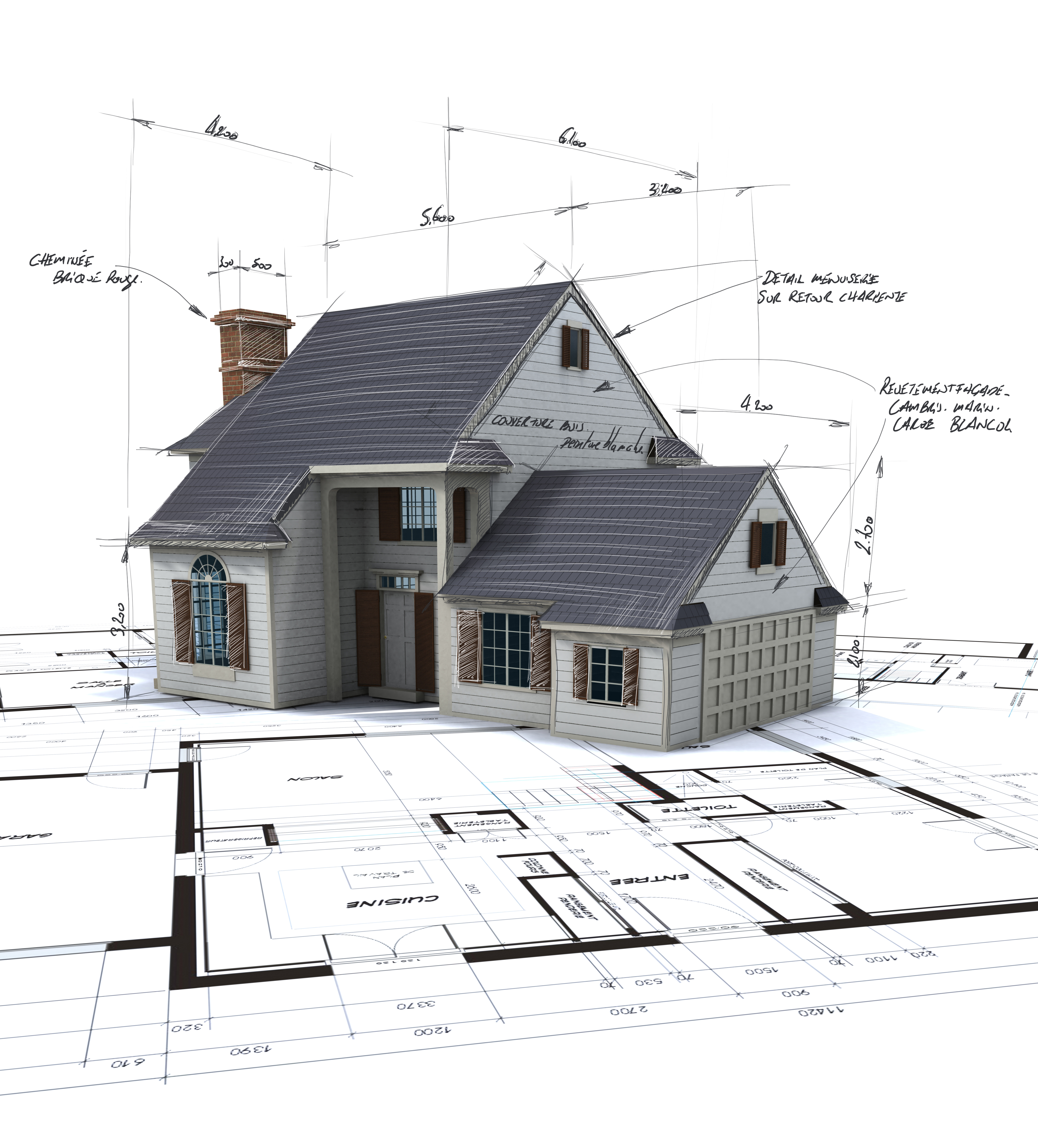 Drawing of a house architectural project - Is development the Right Property Investing Strategy For You